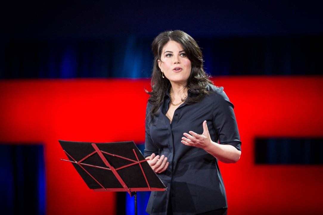 "At TED2015, Monica Lewinsky calls herself ""Patient Zero"" for online harassment. Photo: James Duncan Davidson/TED."
